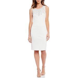 New Calvin Klein round neckline sleeveless dress